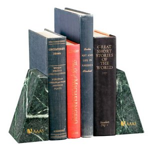 Verde Marble Bookends