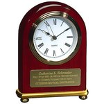 Rosewood Arch Desk Clock
