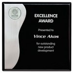 Black with Aluminum Plaque - 8 in.  x 8 in.