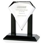 Premiere Crystal Award w/ Black Satin Wood Base -Small