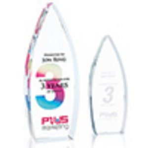 Sky Bound Optical Crystal Award Freestanding  - Small