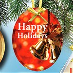 Oval Etched Ornament 3.75 in. BUDGET PRICE