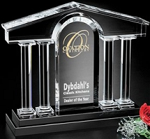 Custom optical crystal awards
