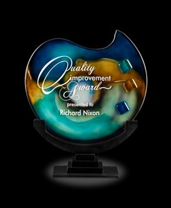 Poseidon Art Glass Corporate Award