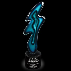 Blue Flash Art Glass Award