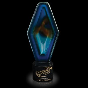 Poseidon Tribute Art Glass Award