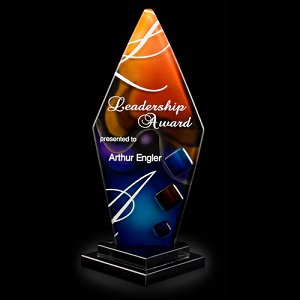 Trilogy Pillar Art Glass Award