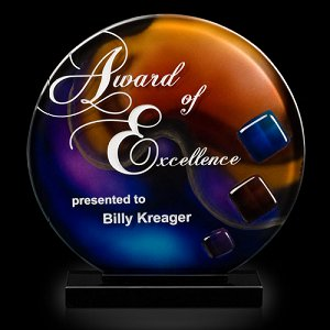 Trilogy Sphere Art Glass Award