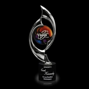 Triumph Chrome Art Glass Award