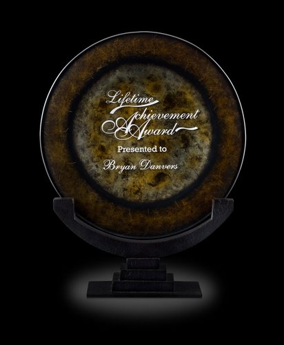 Eclipse II Art Glass Award Plate