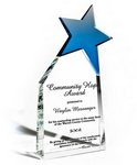 Leading Star Clear Optic Crystal with Sapphire Blue Star Accent